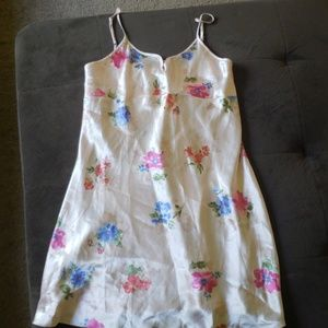 Pink with Floral Print Chemise XL